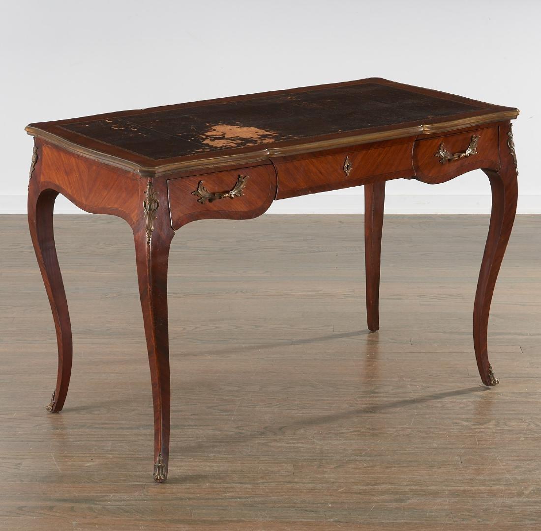 Louix XV bronze mounted mahogany bureau plat
