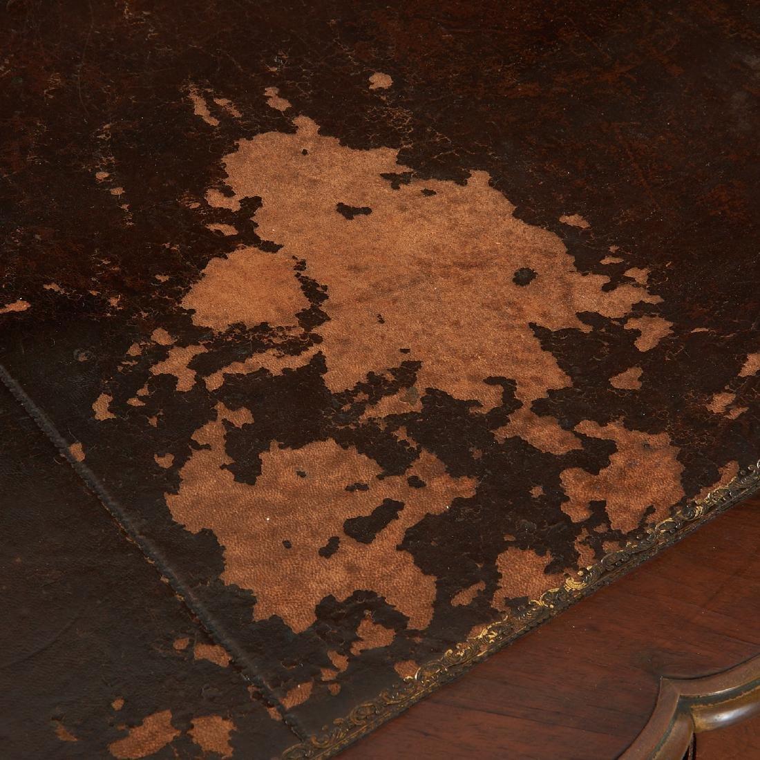 Louix XV bronze mounted mahogany bureau plat - 2