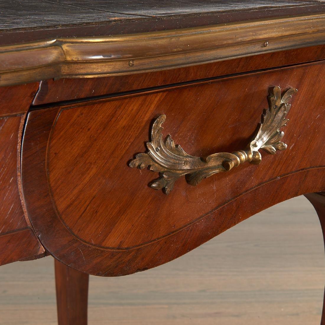 Louix XV bronze mounted mahogany bureau plat - 3