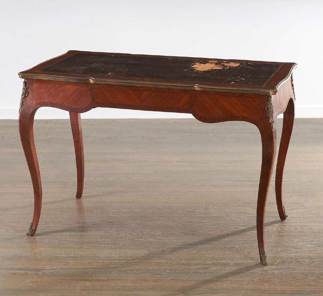 Louix XV bronze mounted mahogany bureau plat - 6