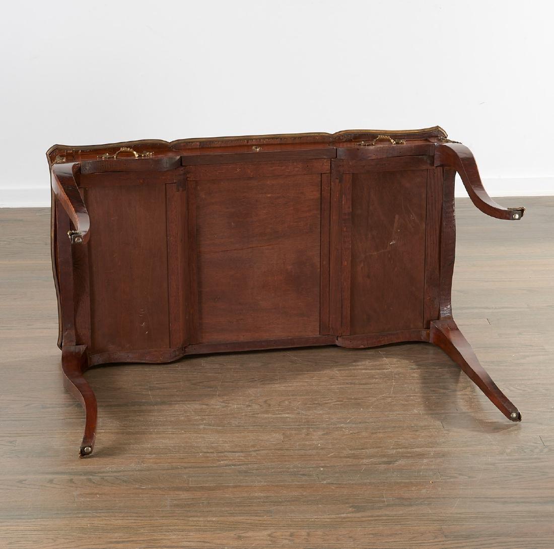 Louix XV bronze mounted mahogany bureau plat - 8