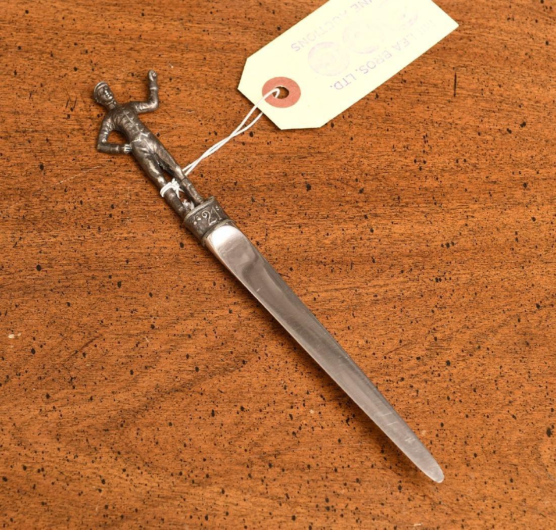 21 Club silver plated jockey letter opener