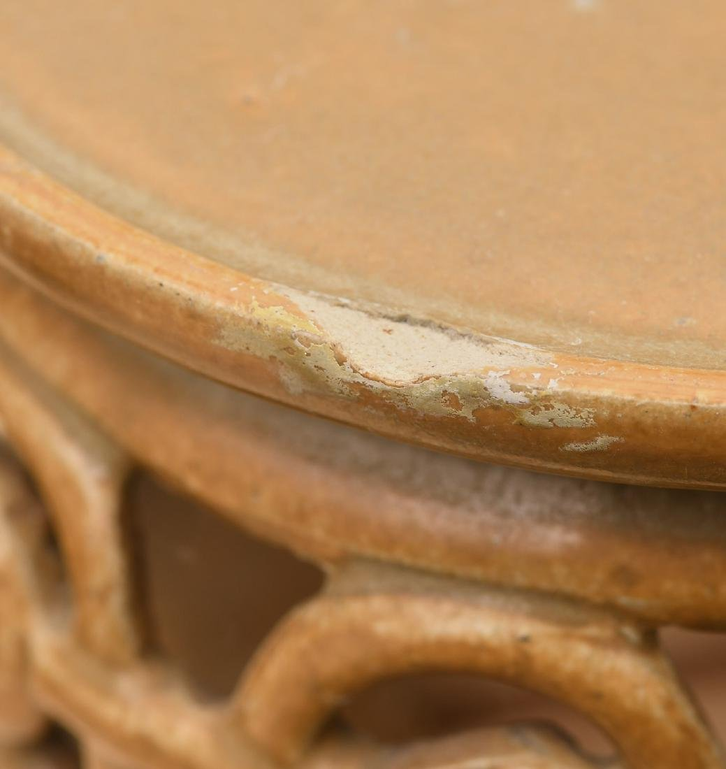 Chinese Jinware style glazed ceramic stand - 3