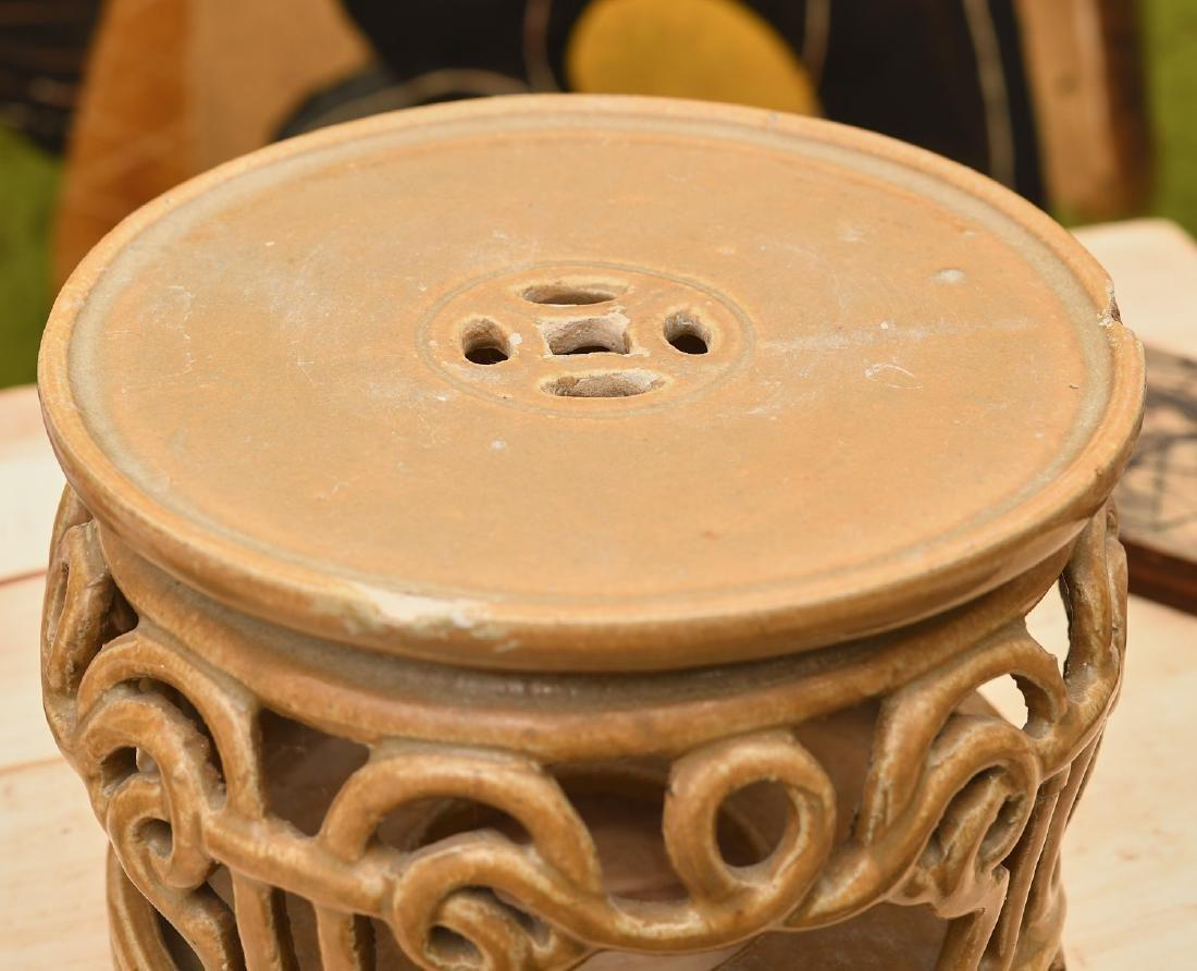 Chinese Jinware style glazed ceramic stand - 4