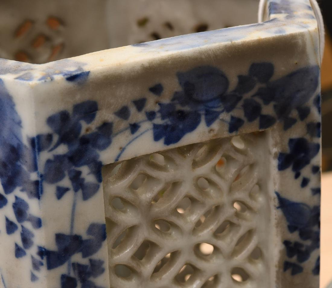 Group (4) Chinese / Japanese pierced porcelains - 4