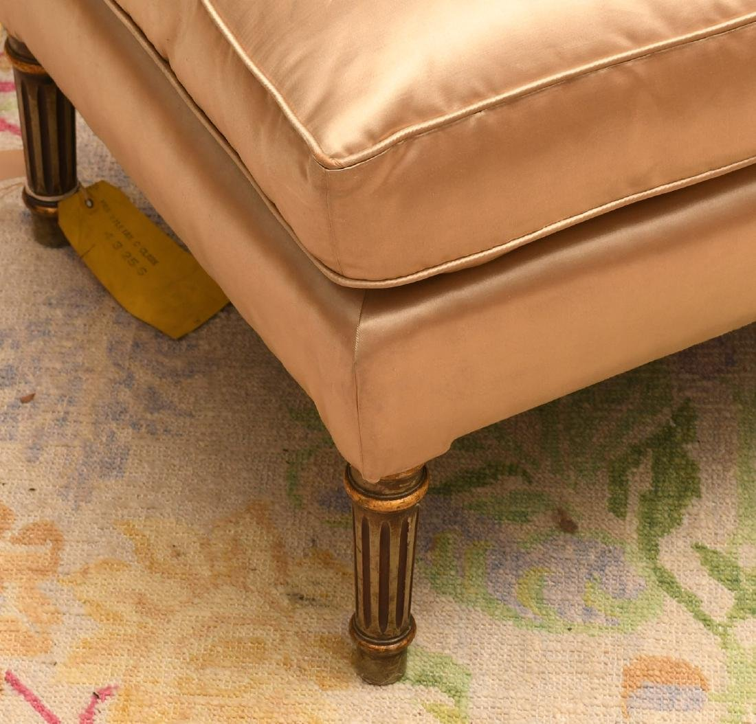Louis XVI style fauteuil and ottoman - 2