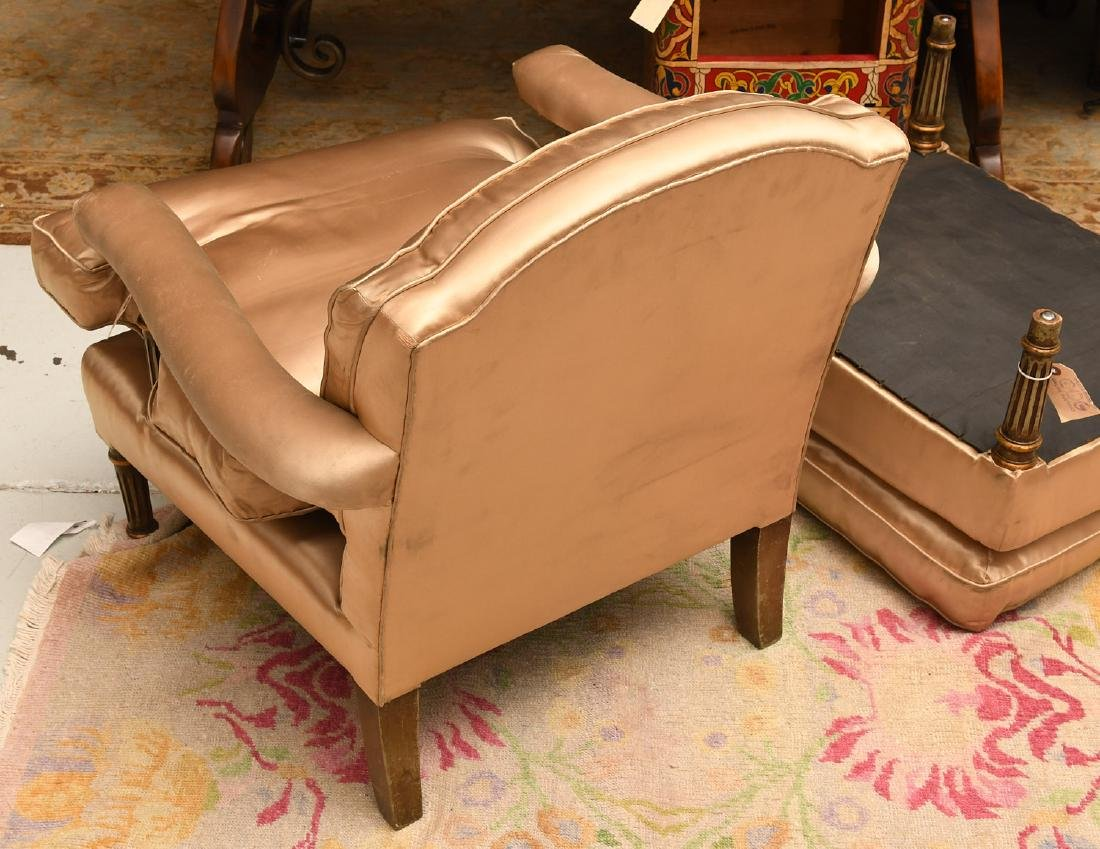 Louis XVI style fauteuil and ottoman - 6
