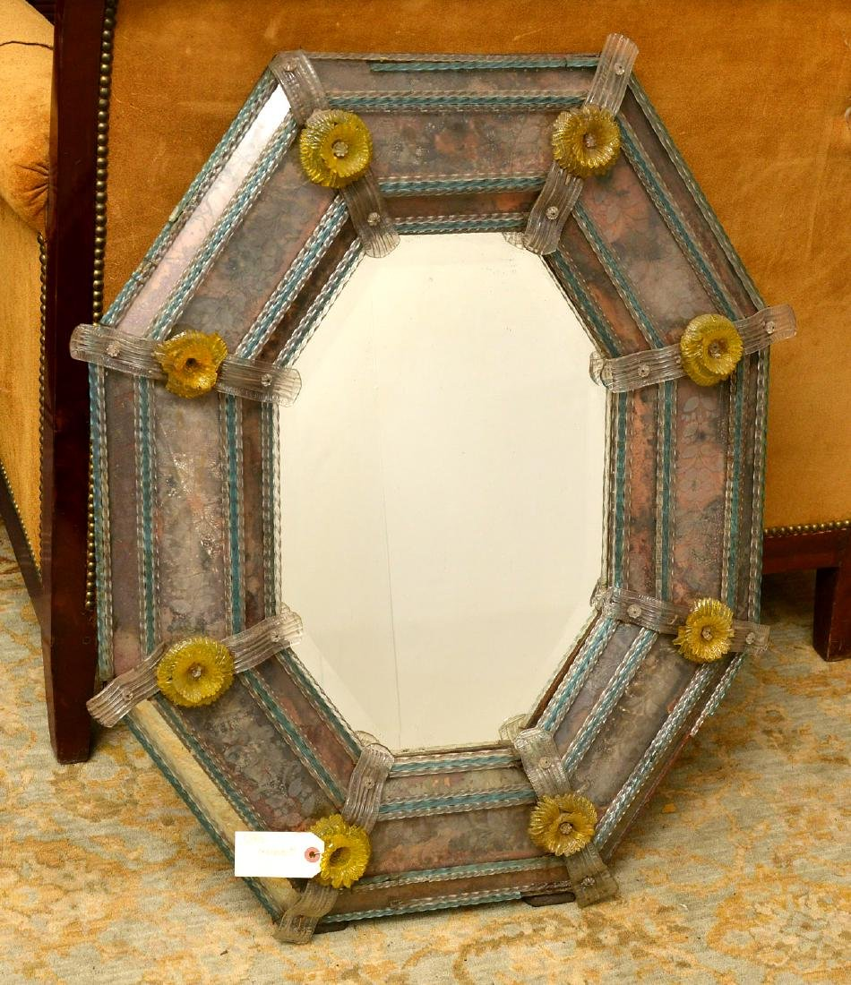 Vintage Venetian glass wall mirror
