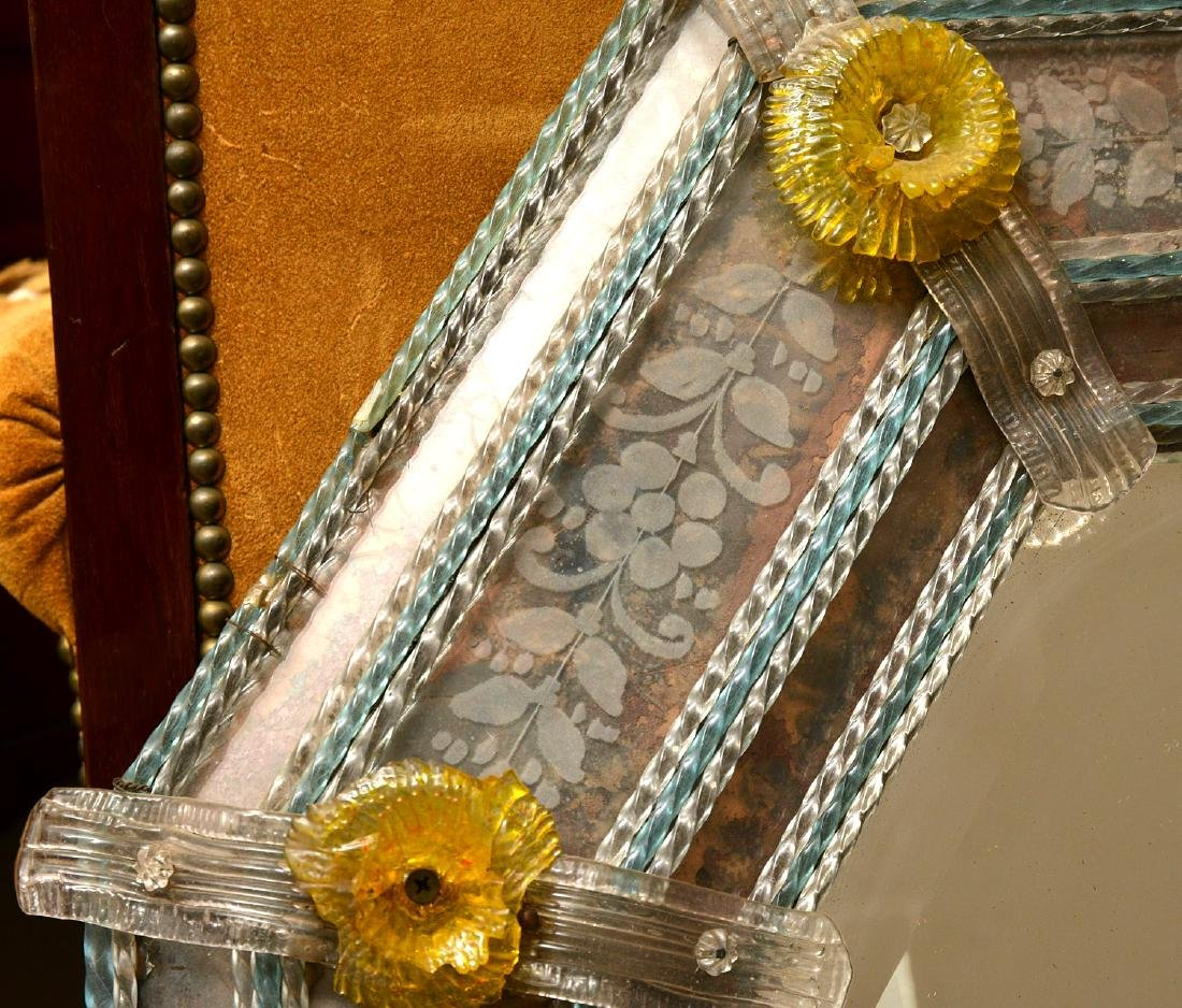 Vintage Venetian glass wall mirror - 5