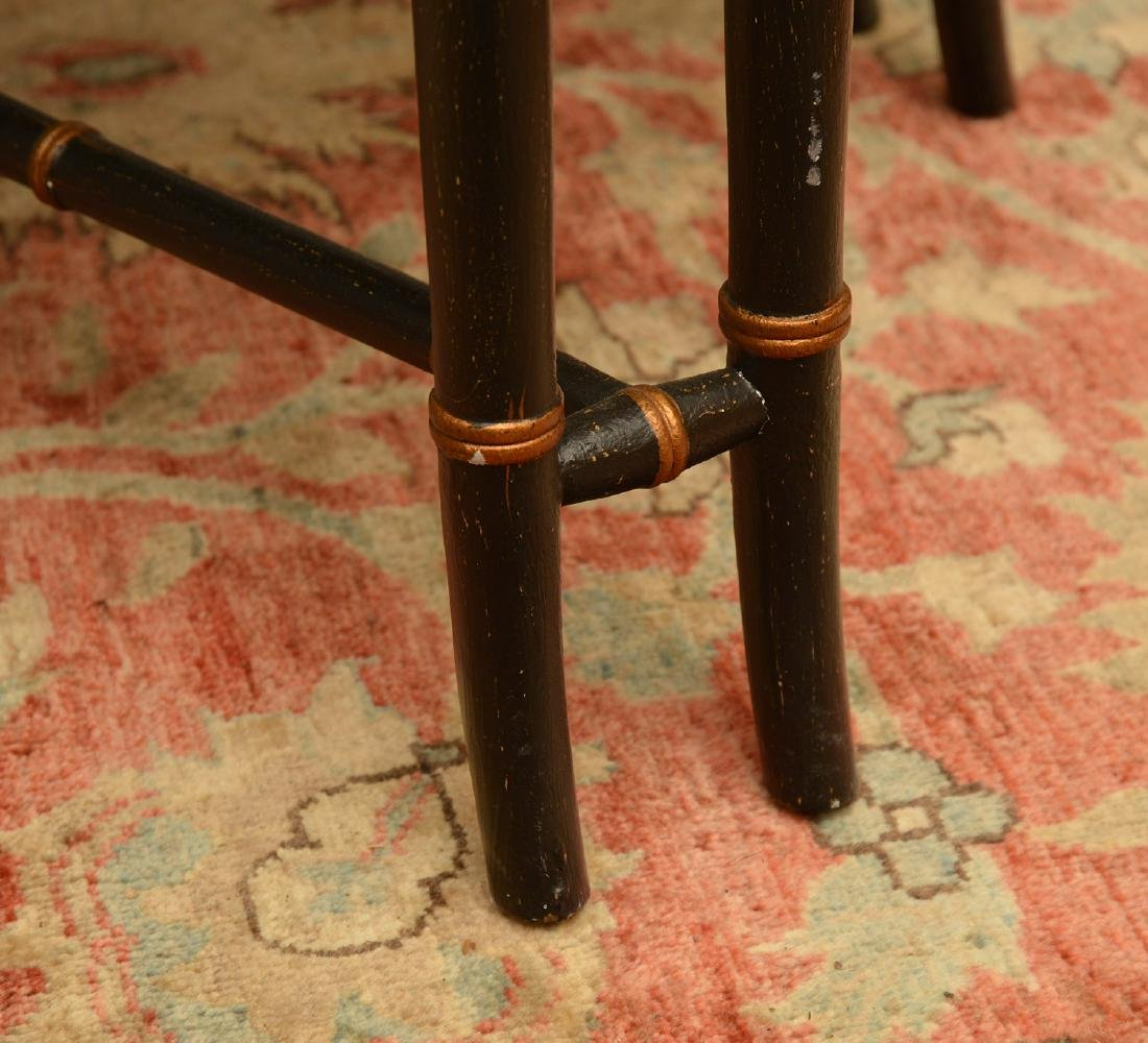 Chinoiserie faux bamboo tray table - 7