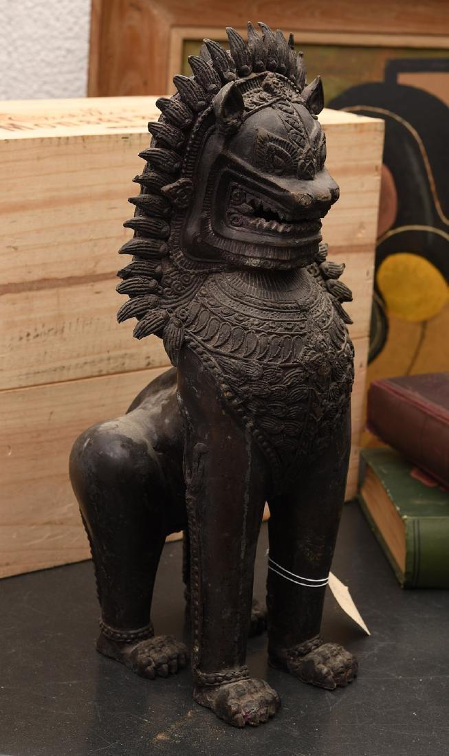 Thai bronze Singha temple dragon