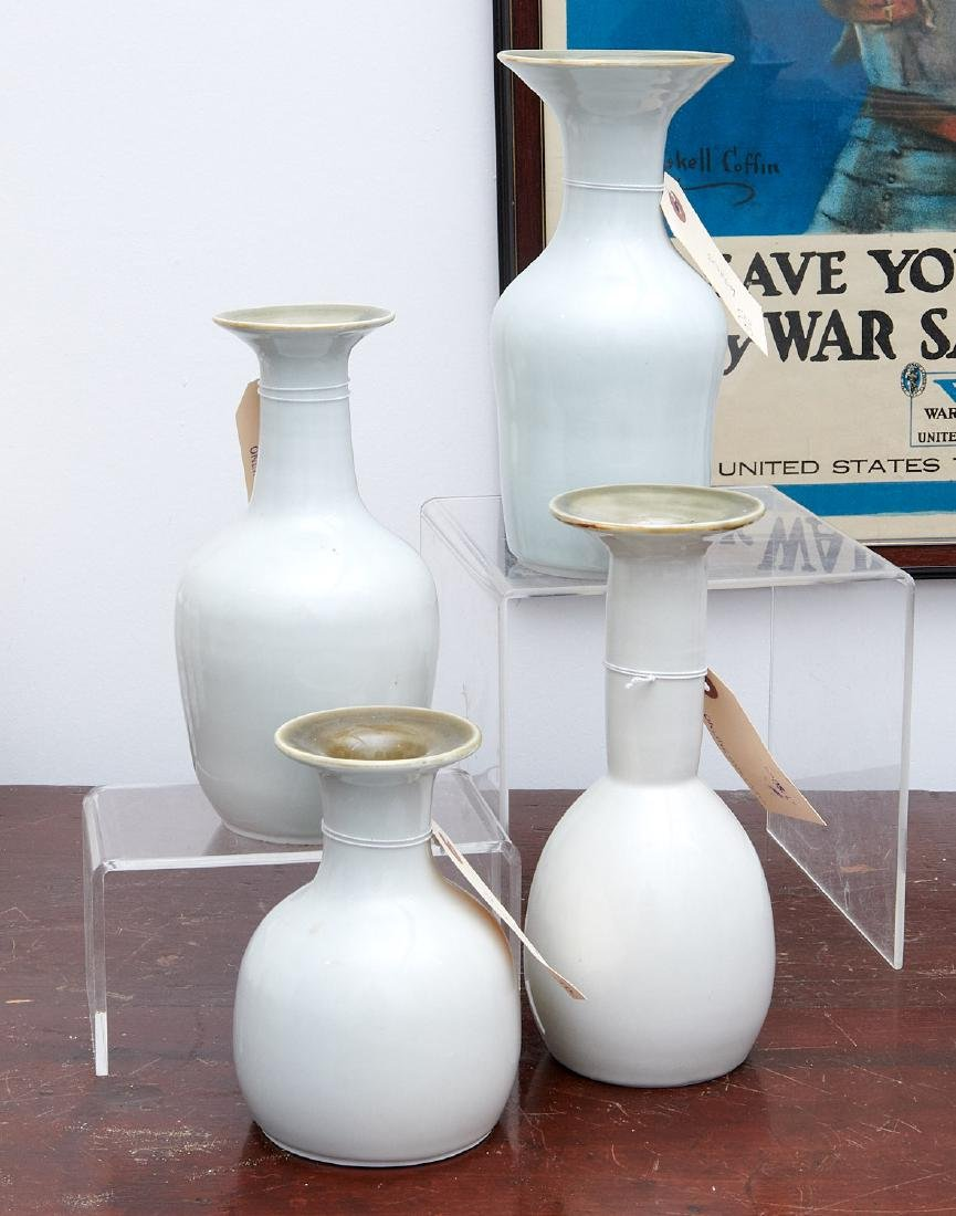 Set (4) studio ceramic vases
