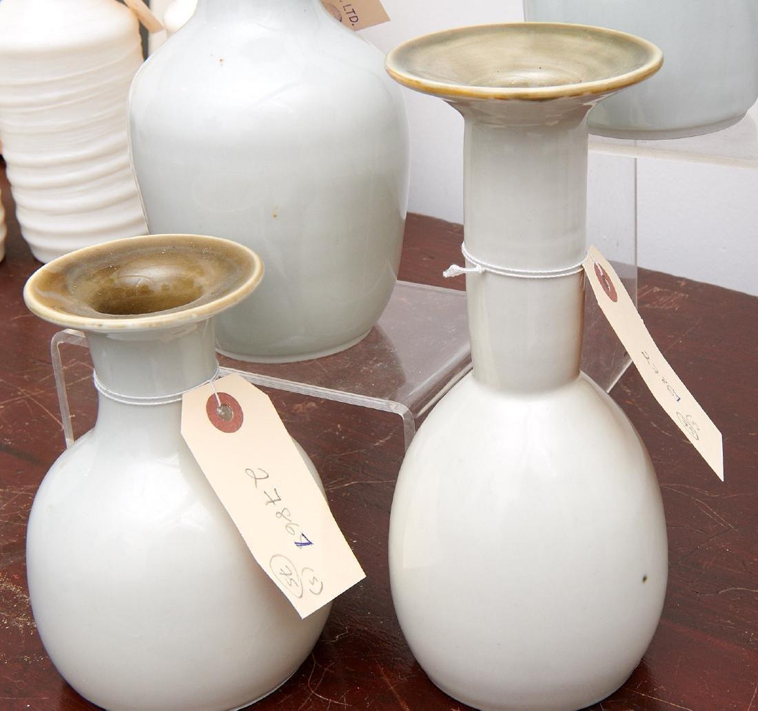 Set (4) studio ceramic vases - 3