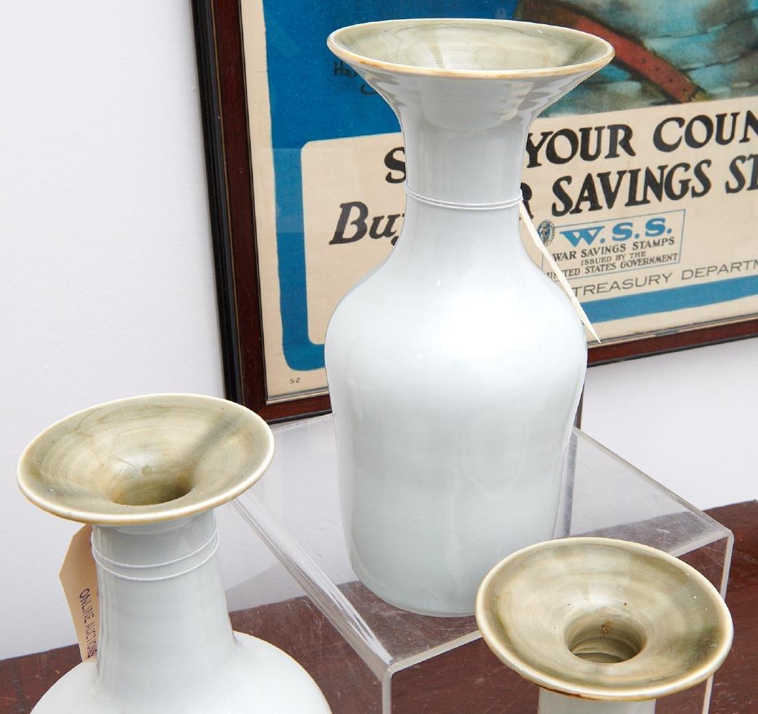 Set (4) studio ceramic vases - 4