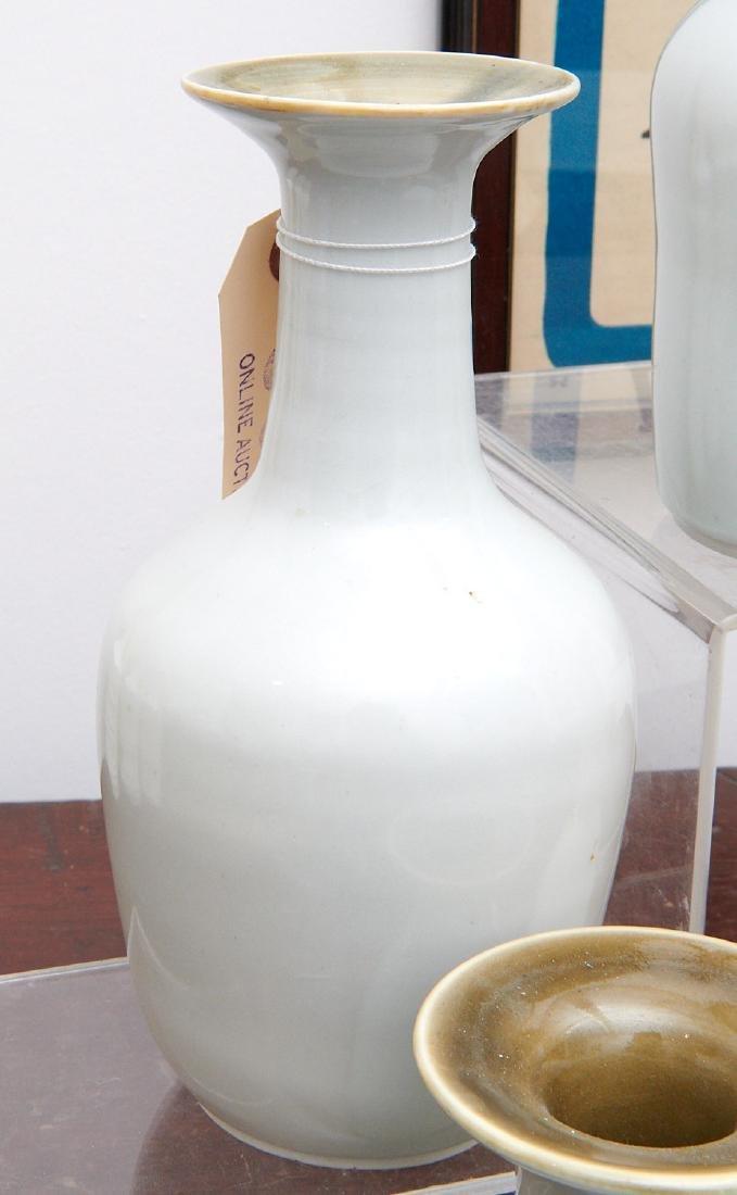 Set (4) studio ceramic vases - 5