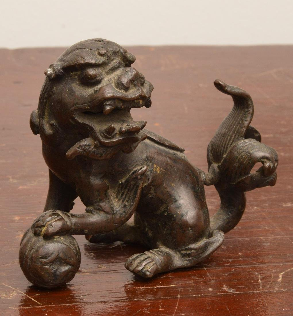 Chinese bronze water droppers & scroll weight - 2