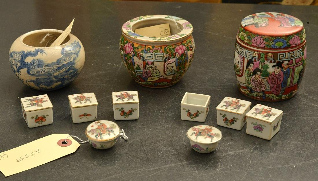 (11) Chinese porcelain miniatures