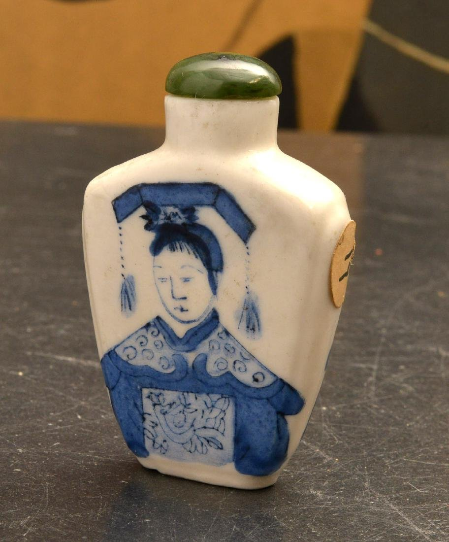 (3) Chinese porcelain snuff bottles - 5