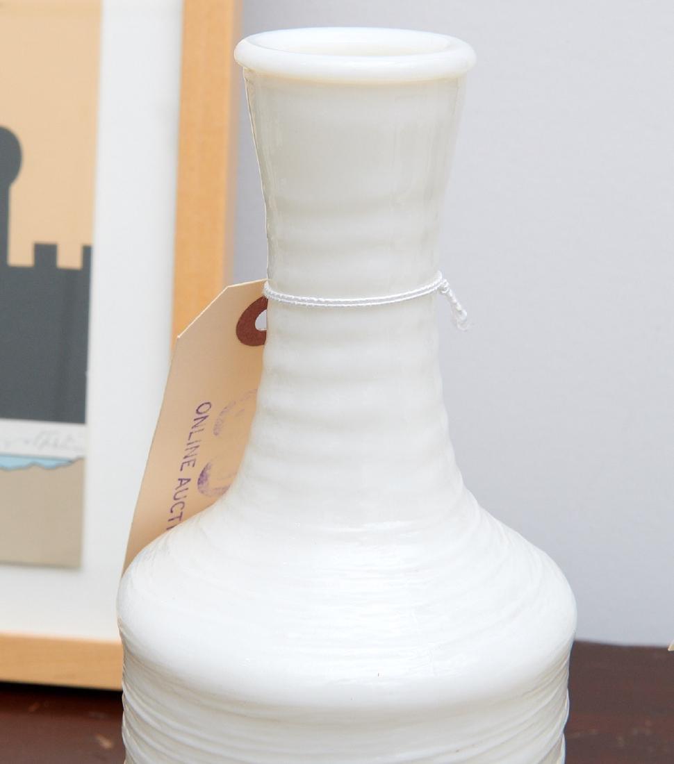 (3) Japanese textured glass sake bottles - 3