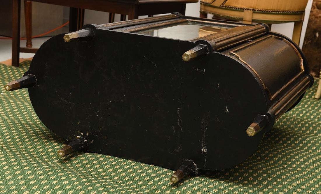 Decorator black lacquered mirrored cabinet - 10