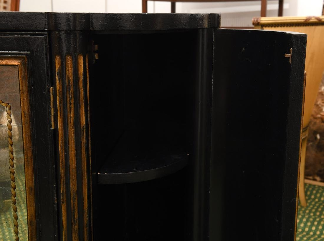 Decorator black lacquered mirrored cabinet - 3