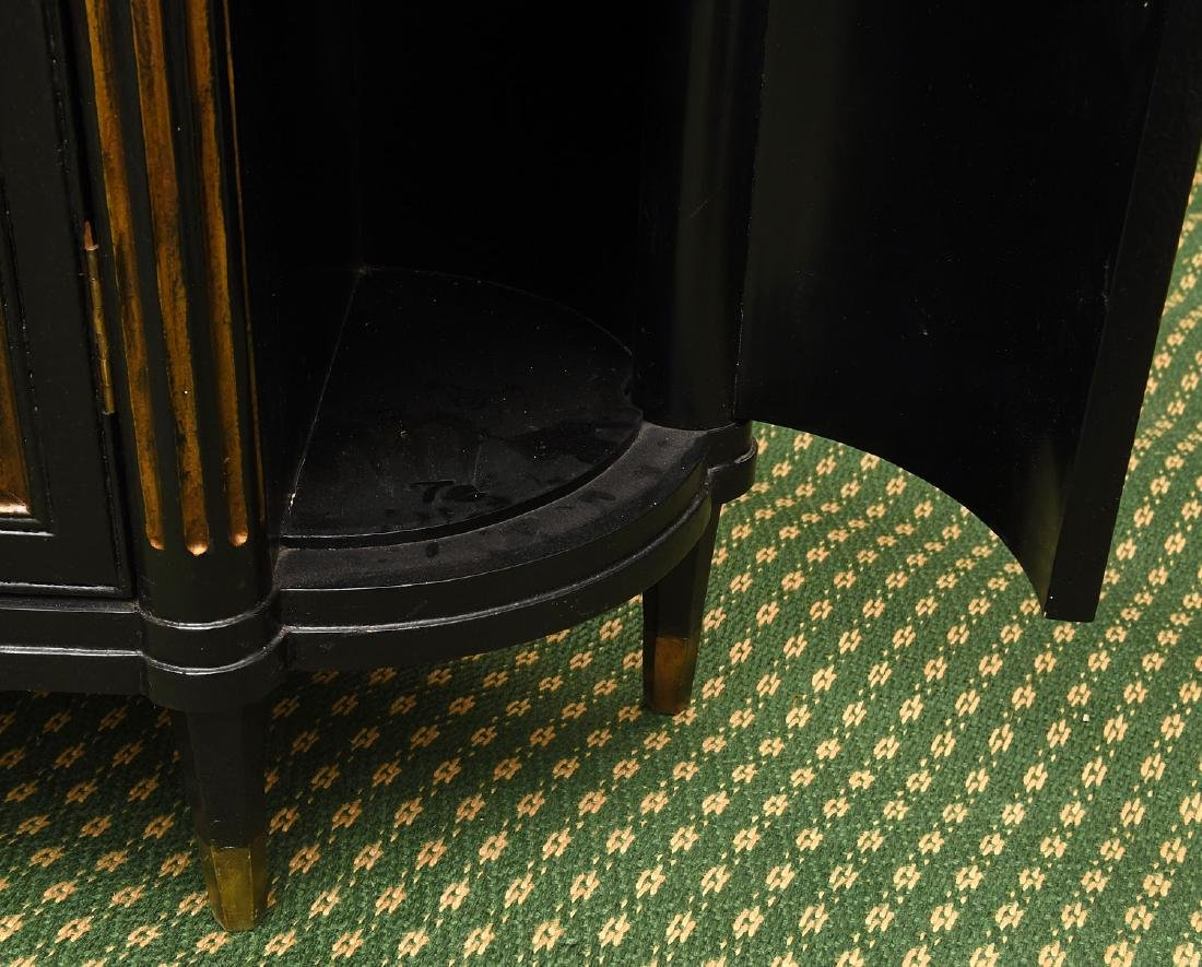Decorator black lacquered mirrored cabinet - 4