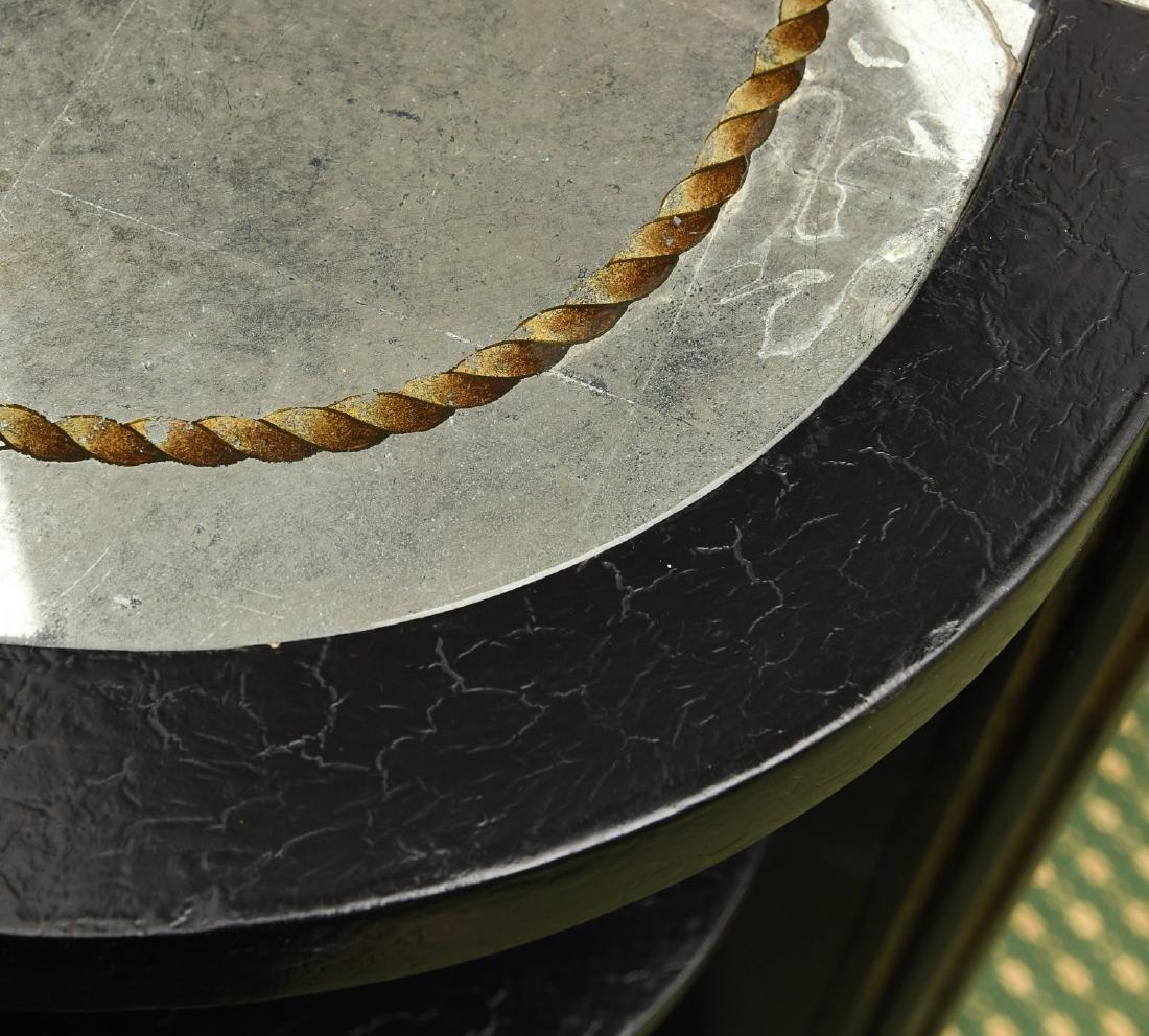 Decorator black lacquered mirrored cabinet - 5