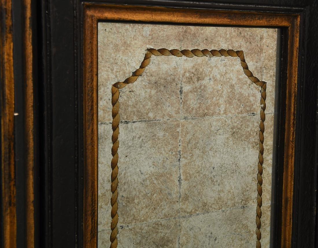 Decorator black lacquered mirrored cabinet - 6