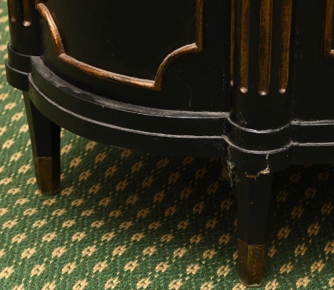 Decorator black lacquered mirrored cabinet - 9
