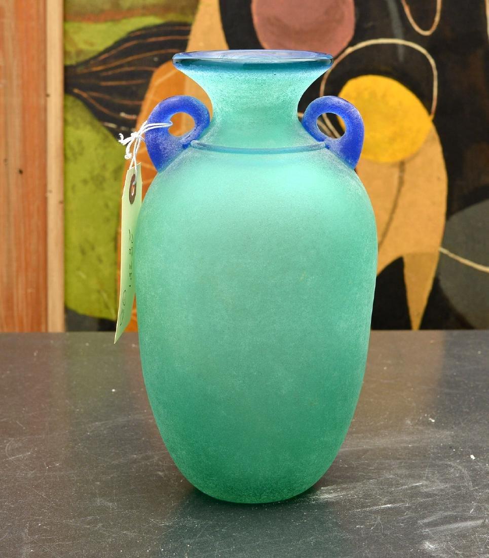 Franco Moretti Murano art glass vase