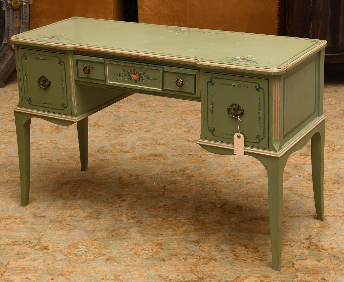 Vintage hand-painted floral desk