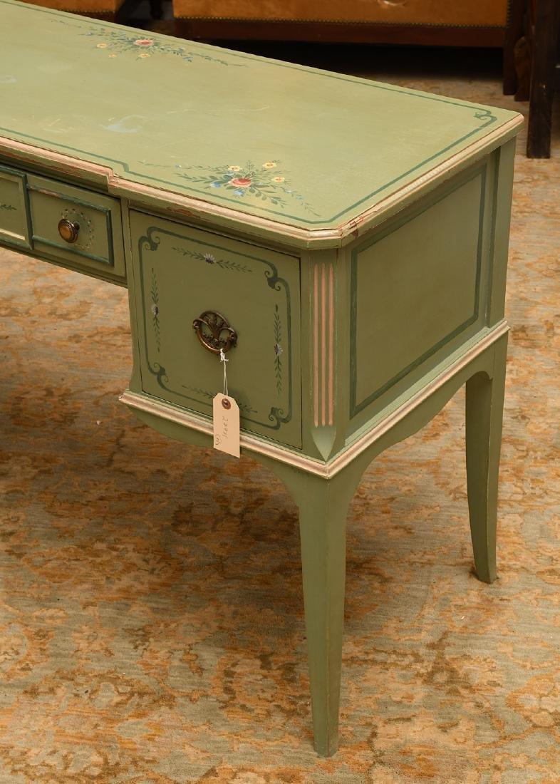 Vintage hand-painted floral desk - 2