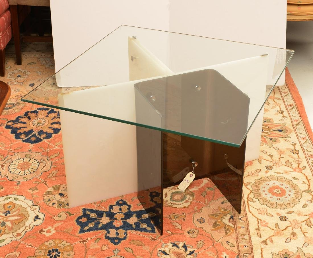 Pair Space Age acrylic side tables - 3