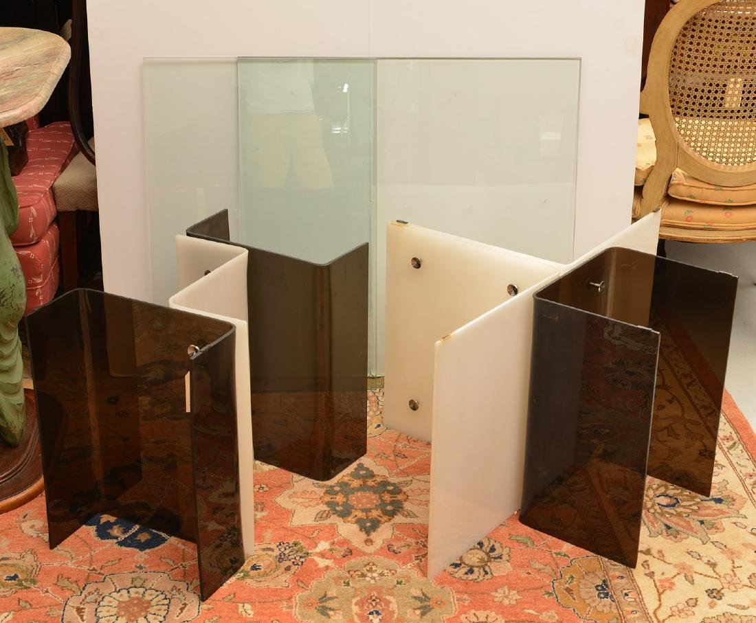 Pair Space Age acrylic side tables - 7