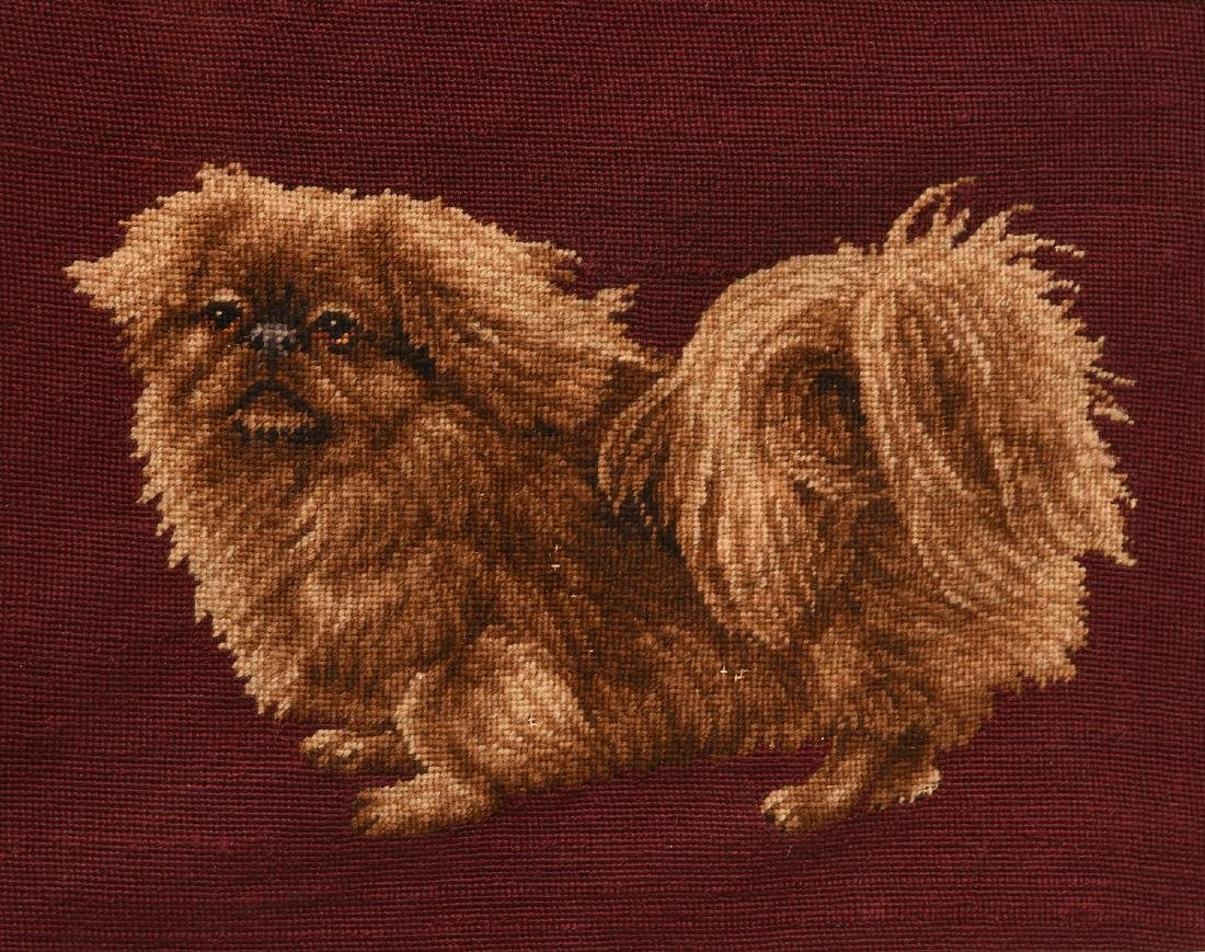 Needlepoint Pekingese dog panel - 2