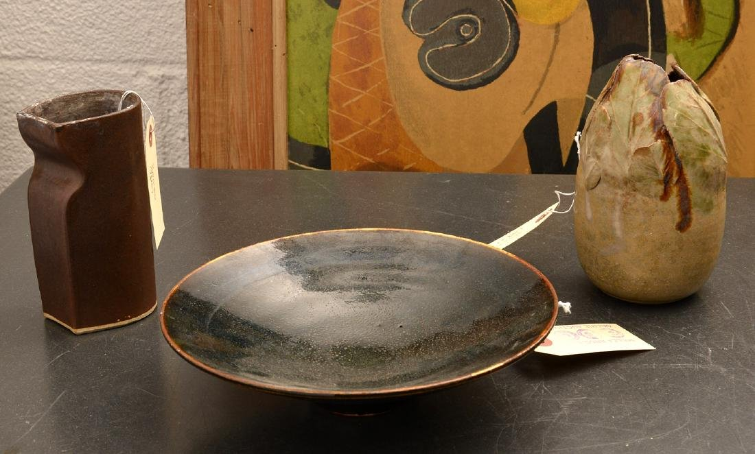 (3) Studio pottery vessels
