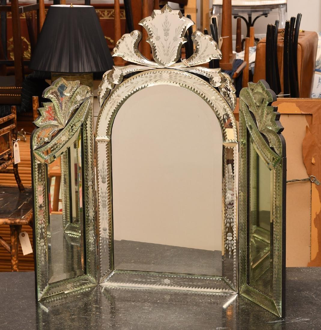Venetian style tabletop dressing mirror