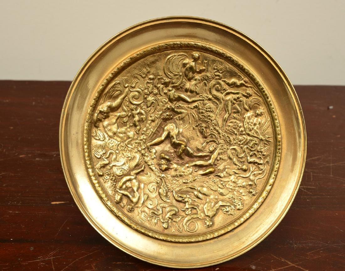 Pair bronze Renaissance style relief tazzas - 2