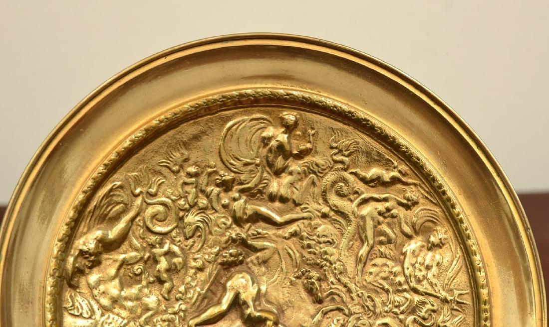 Pair bronze Renaissance style relief tazzas - 3