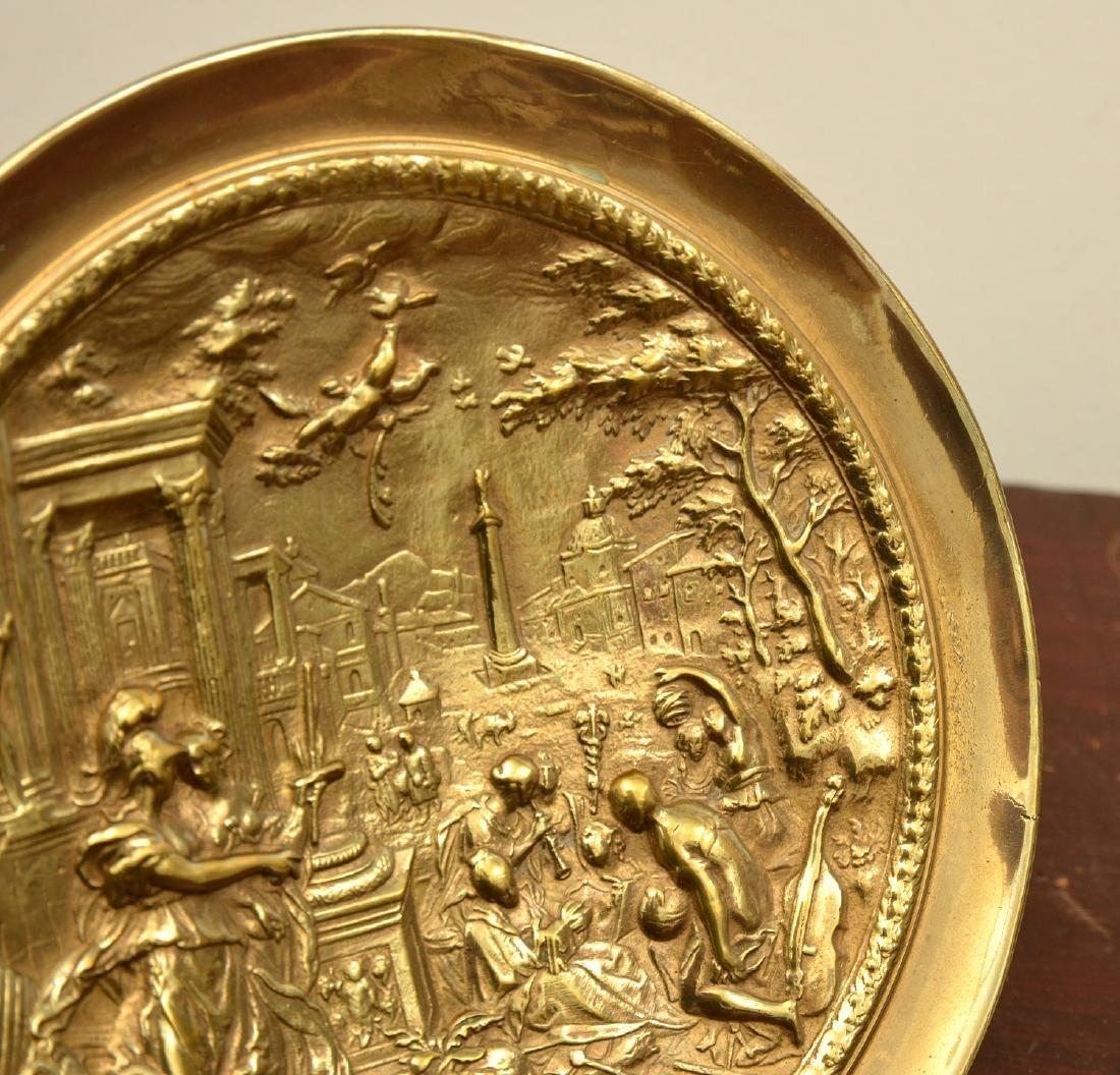 Pair bronze Renaissance style relief tazzas - 6