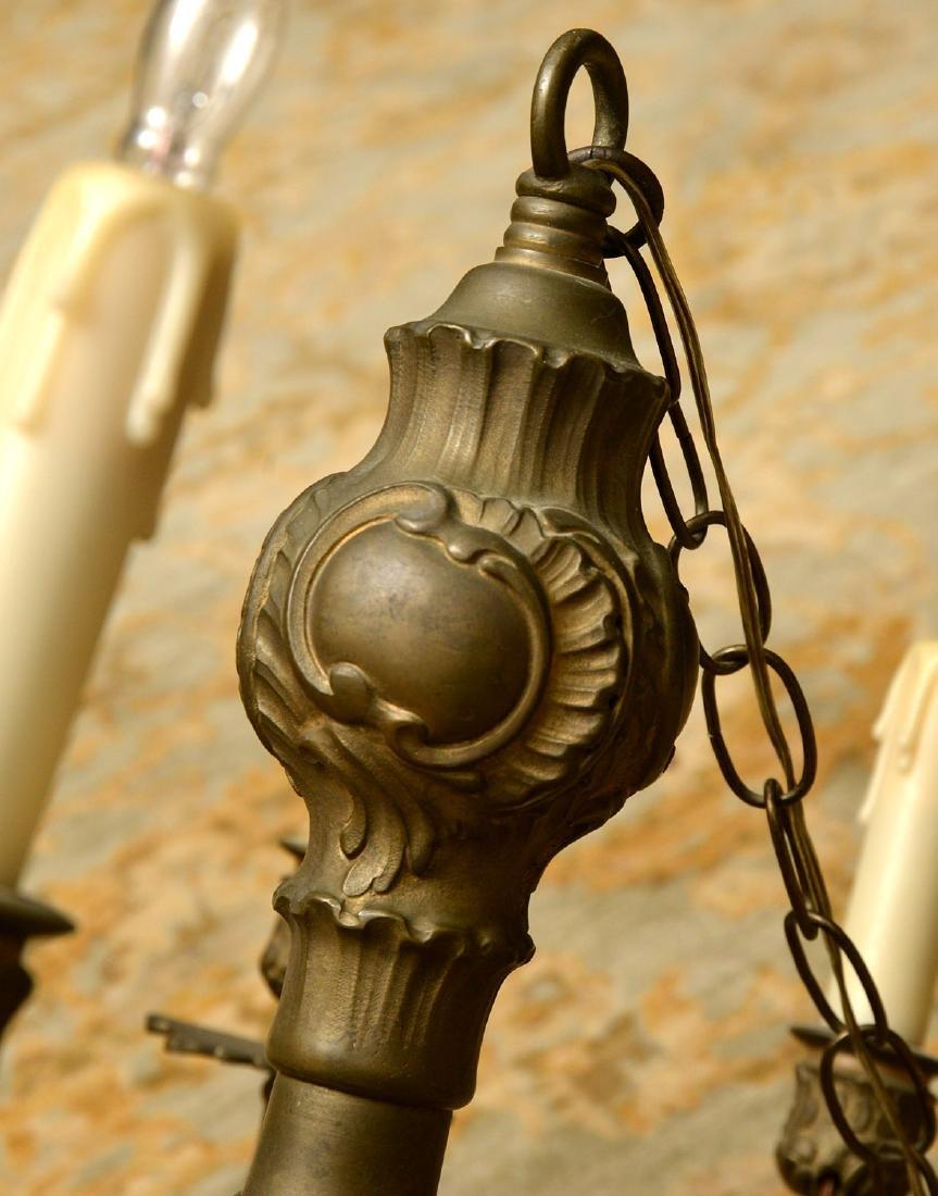 Vintage Italian baroque style bronze chandelier - 4
