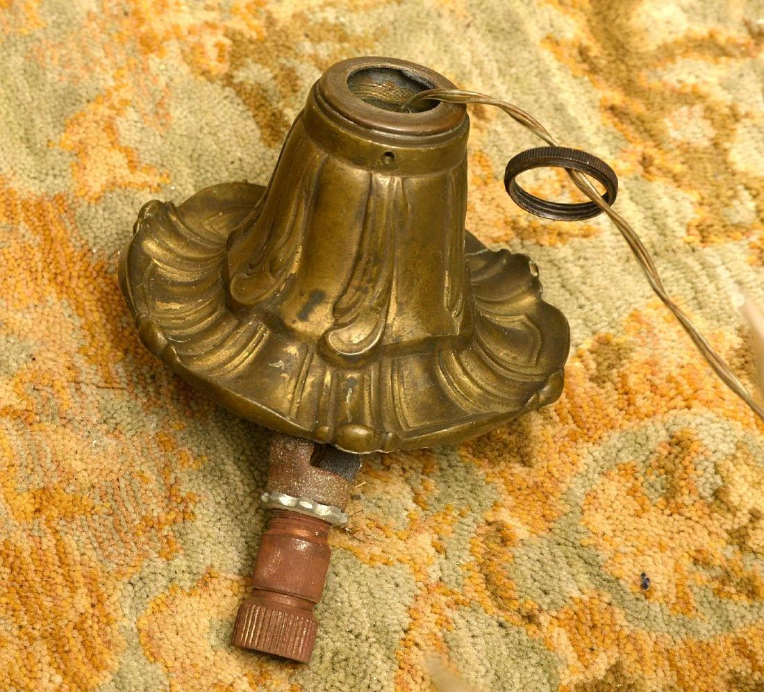 Vintage Italian baroque style bronze chandelier - 6