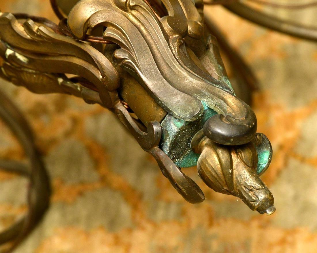 Vintage Italian baroque style bronze chandelier - 7