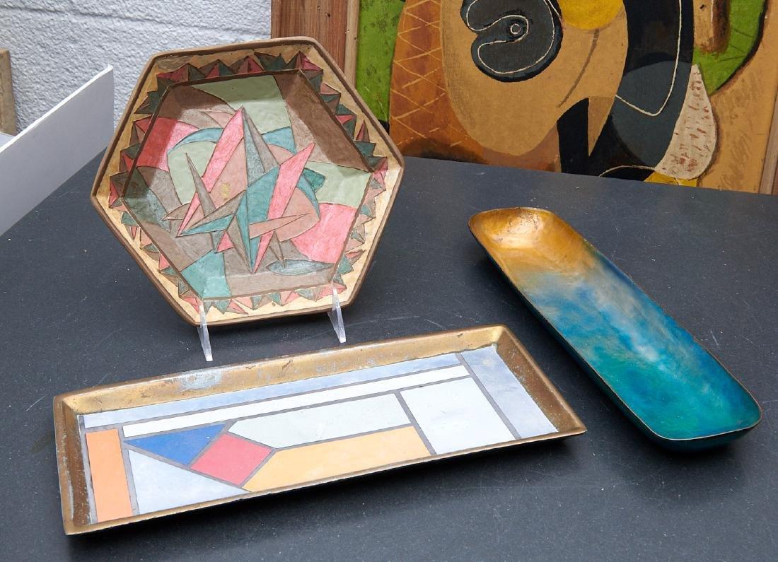(3) Modernist enamel tablewares