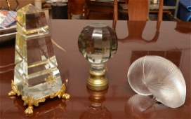 Baccarat and French crystal decorations