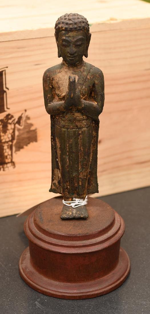 Southeast Asian gilt bronze Buddha
