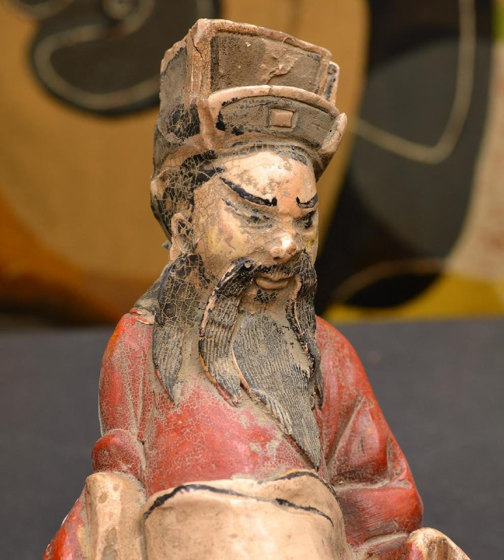 Antique Chinese figural roof ornament - 3