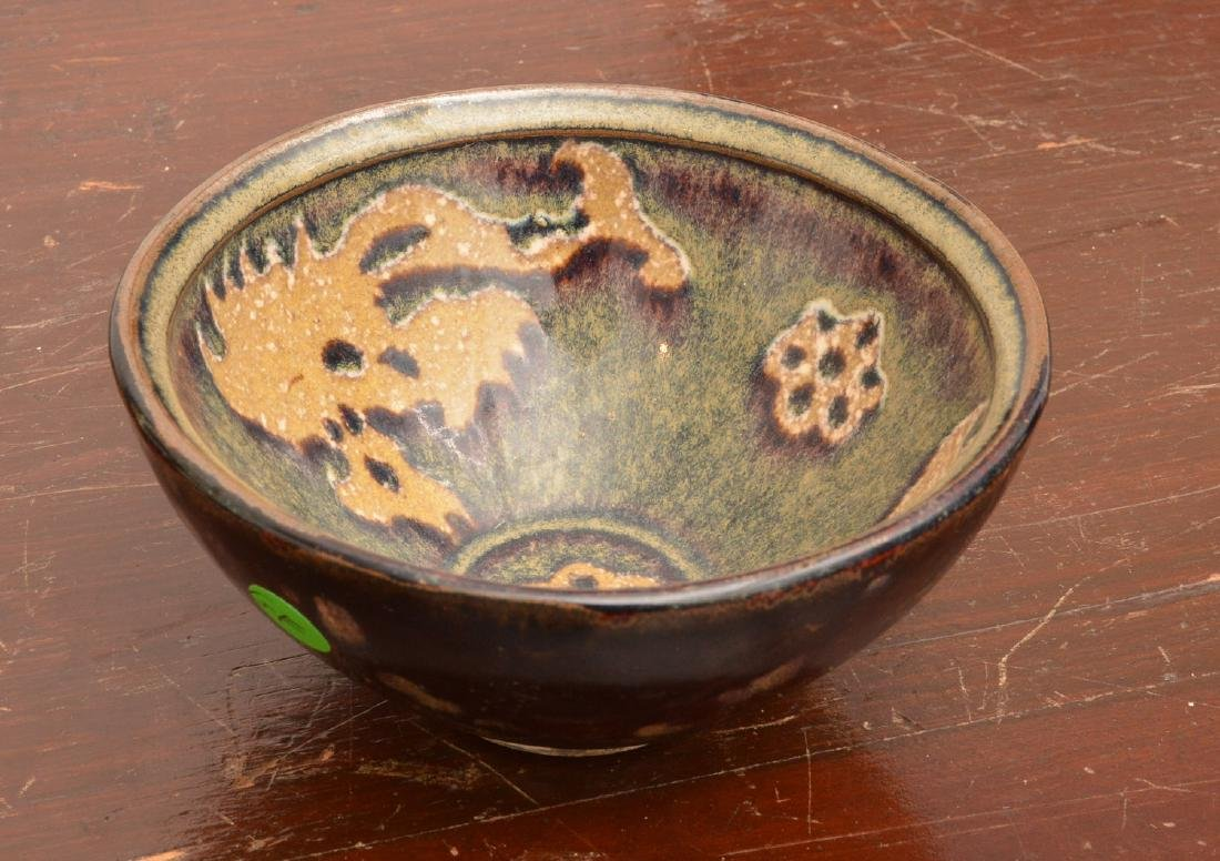 Asian hare's fur glaze tea bowl
