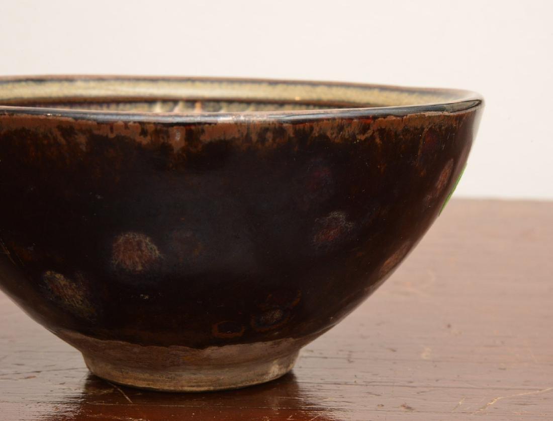 Asian hare's fur glaze tea bowl - 2