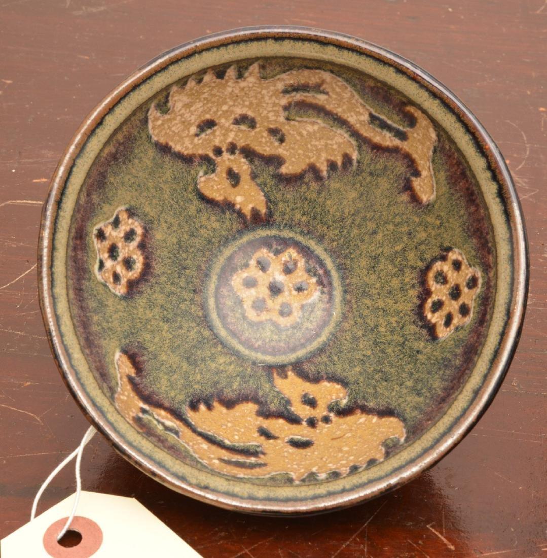 Asian hare's fur glaze tea bowl - 3